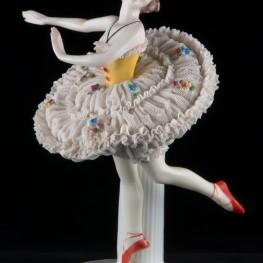 Балерина в классической пачке, кружевная, E & A Muller (Schwarza-Saalbahn), Германия, до 1927 г