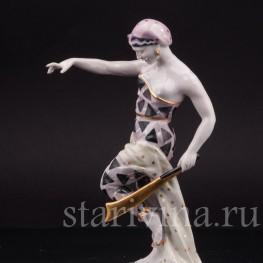 Фарфоровая статуэтка Танцовщица с мечом, Von Schierholz, Германия, 1930 гг.